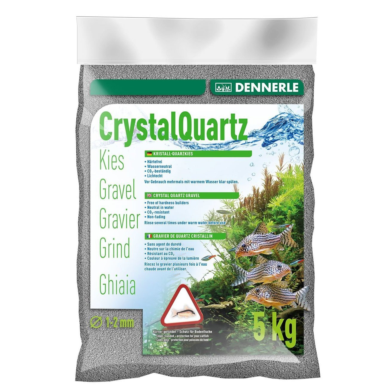 Dennerle Kristall-Quarzkies, 5 kg, grau