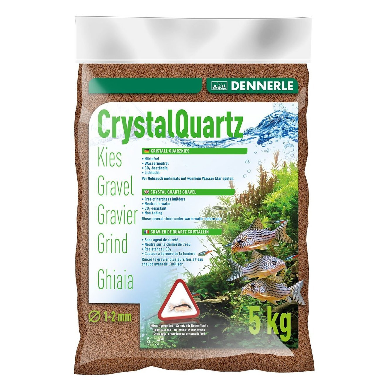 Dennerle Kristall-Quarzkies, 5 kg, rehbraun