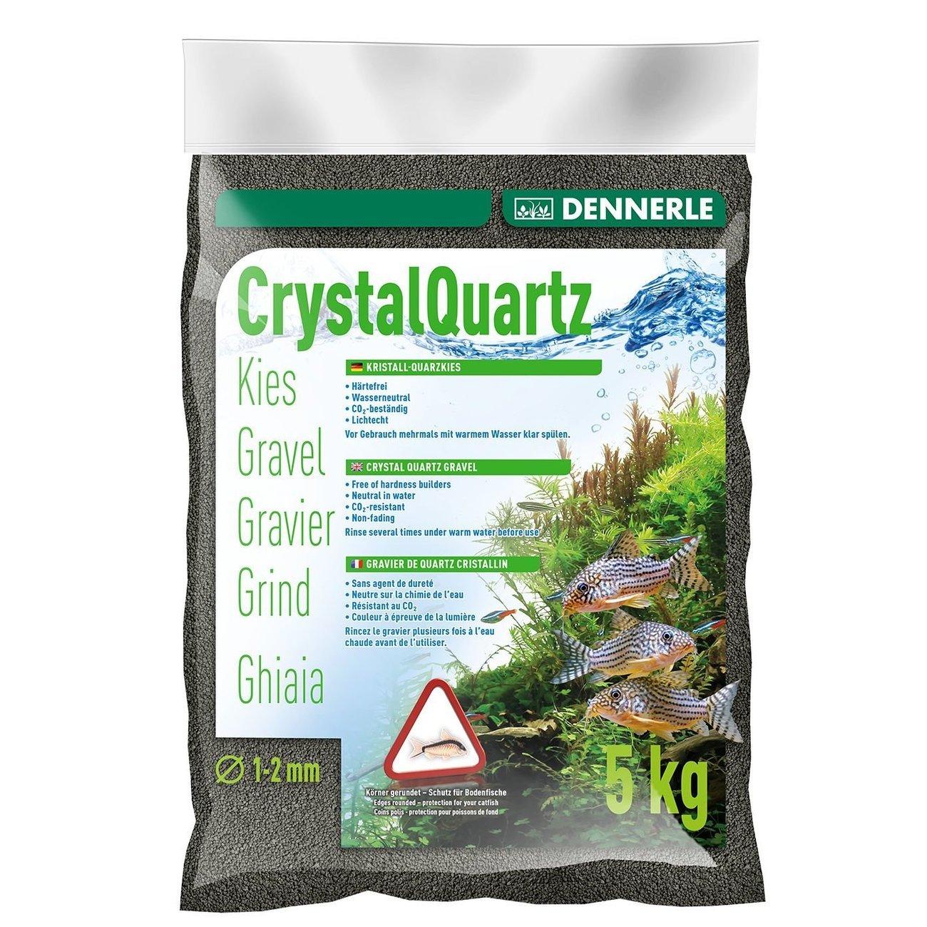 Dennerle Kristall-Quarzkies, 5 kg, schwarz
