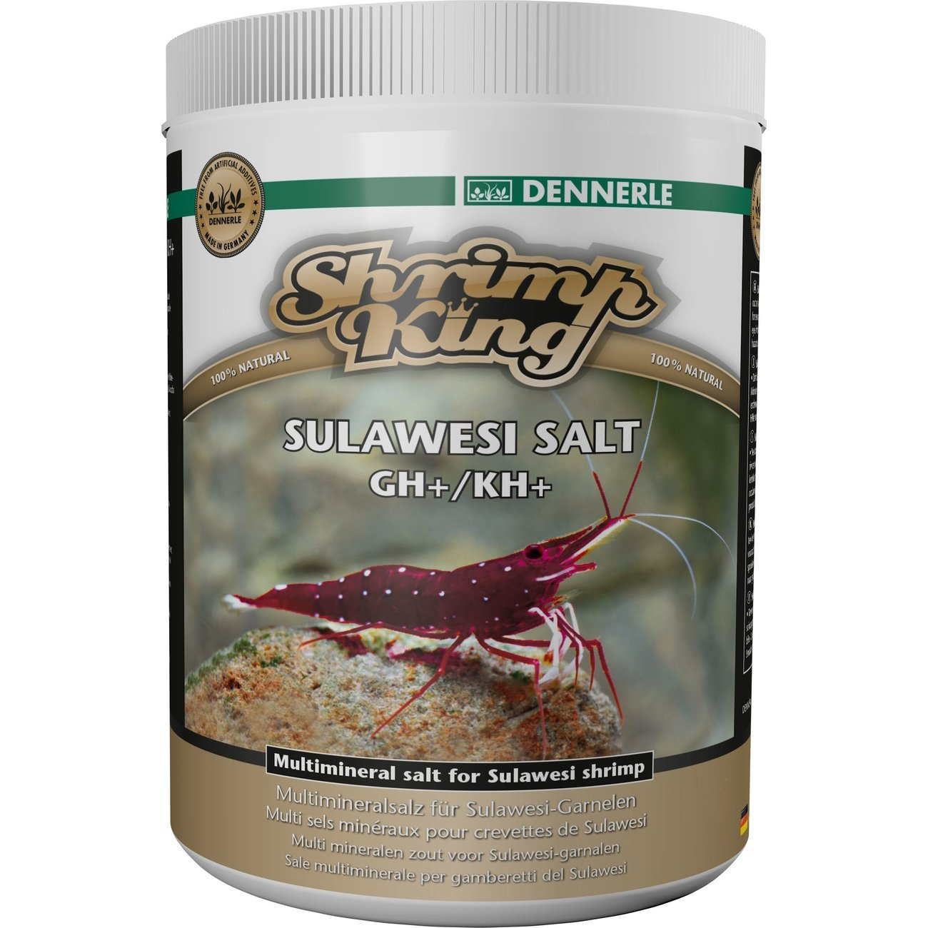 Dennerle Shrimp King Sulawesi Salt GH+/KH+, 1000 Gramm