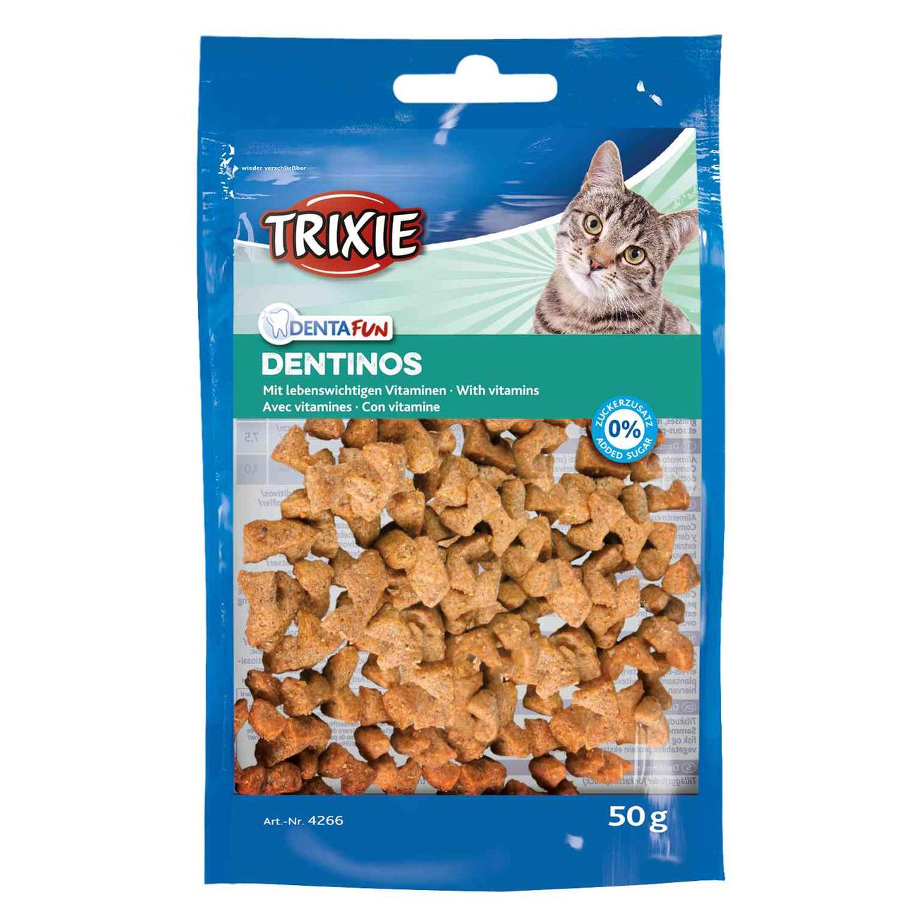 Trixie Denta Fun Dentinos Zahnpflege Leckerlies für Katzen 4266