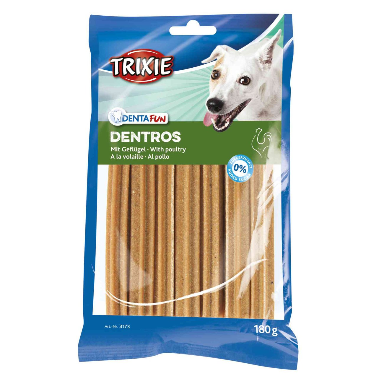 TRIXIE Denta Fun Dentros Zahnpflege Hunde Kaustangen 3173