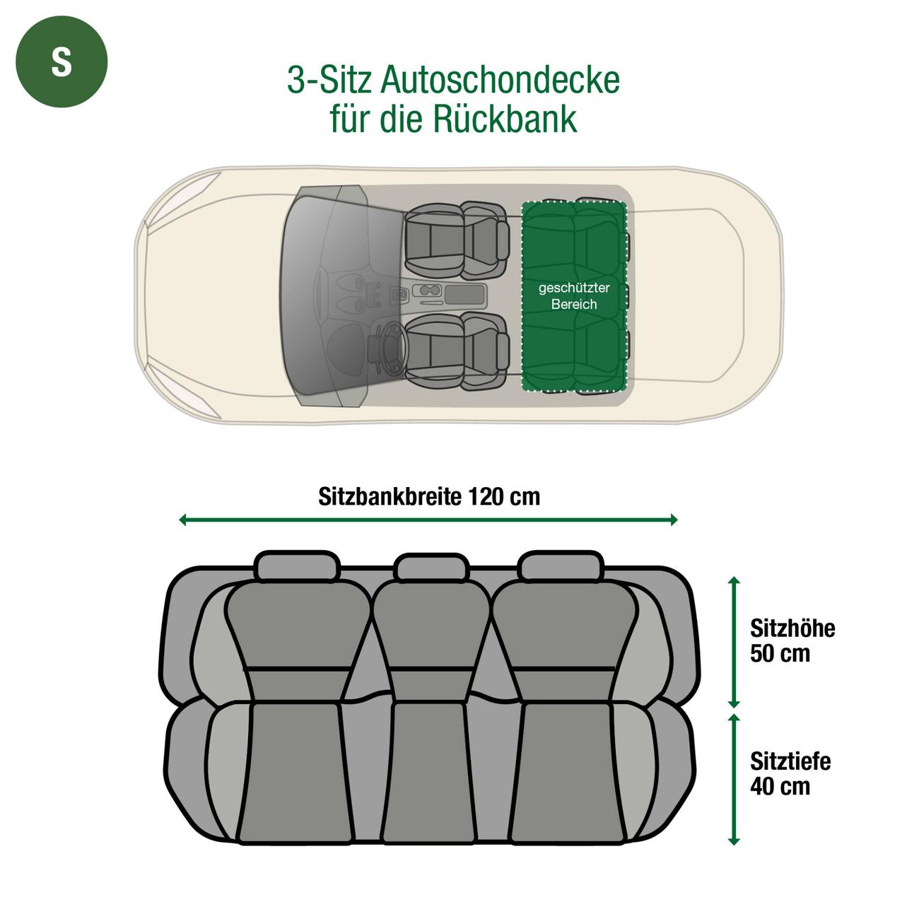 Doctor Bark Autodecke 3-Sitz Rücksitz, Bild 21