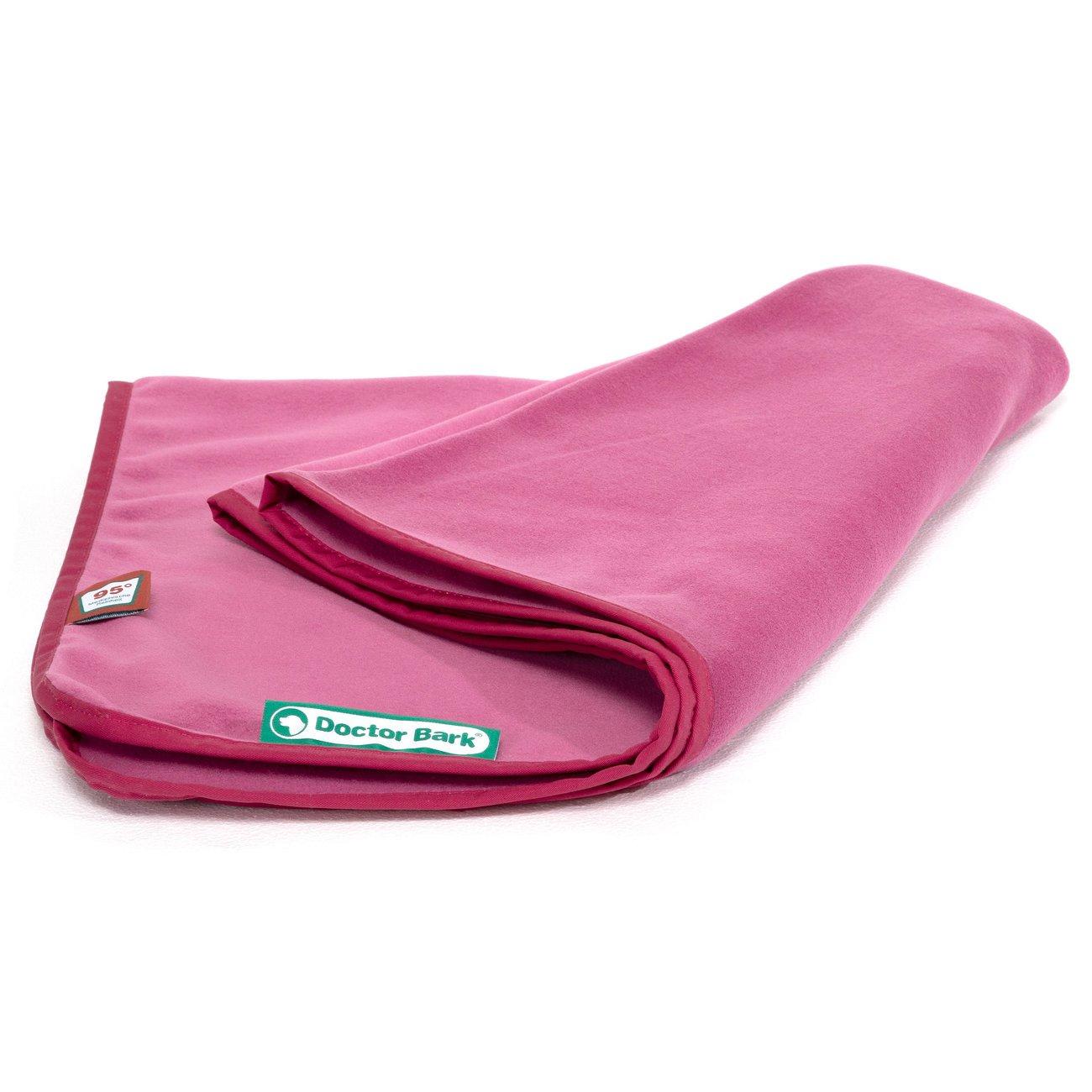 Doctor Bark Kuscheldecke Fleece für Hunde, Gr. M -hot pink - ca. 100x70cm