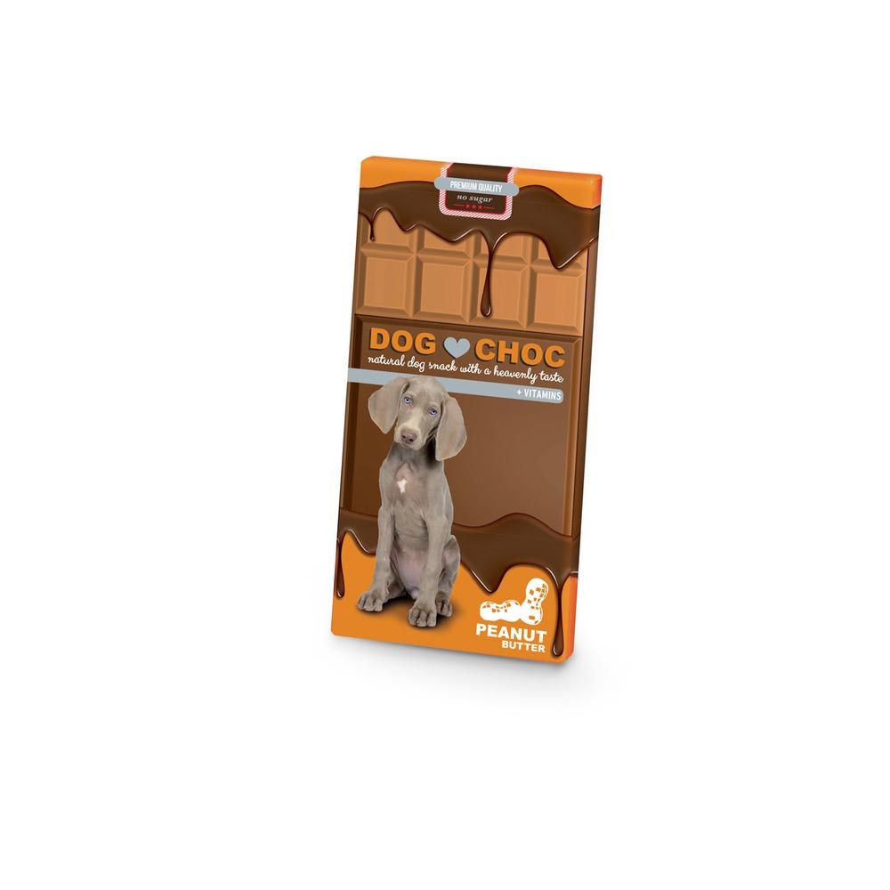 EBI Dog Choc Erdnussbutter Hunde Schokolade, 100g