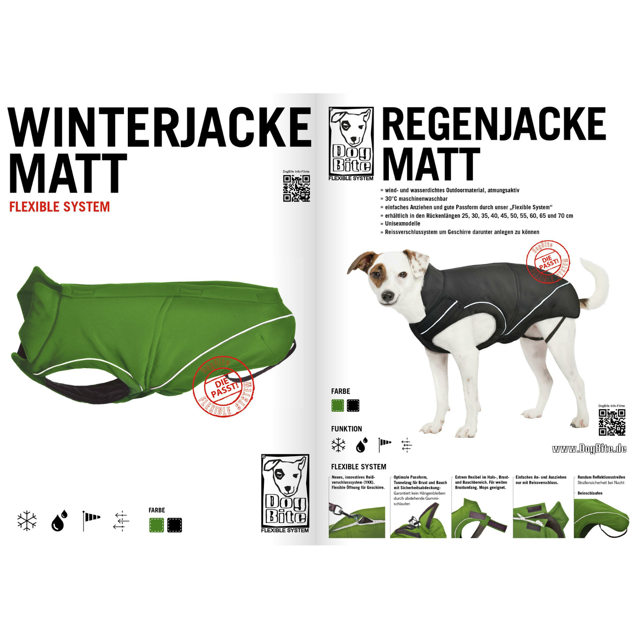 DogBite Hunde Ganzjahres Regenjacke Matt, Bild 12
