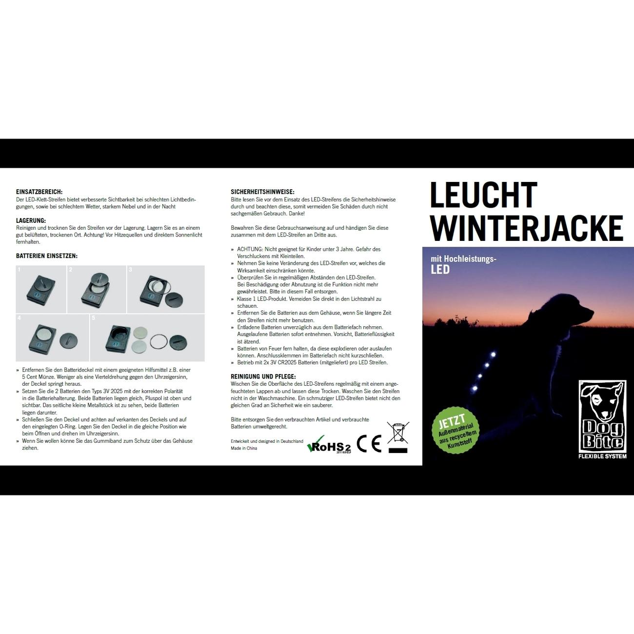 DogBite Hunde Leucht-Winterjacke mit LED, Bild 8