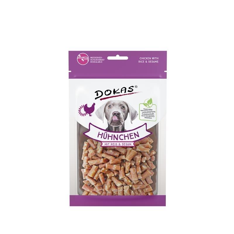 Dokas Hunde Snack Hühnchen mit Reis und Sesam