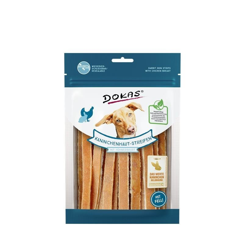 Dokas Kaninchenhaut-Streifen mit Hühnerbrust, 120 g