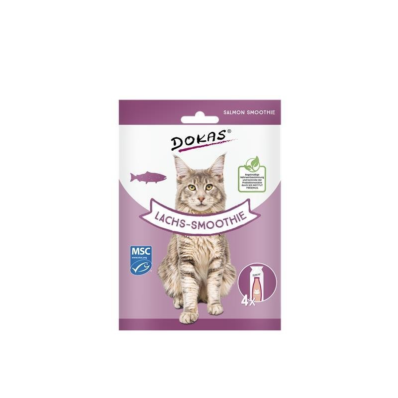 Dokas Katzensnack Smoothie, Lachs-Smoothie, 4 x 30 ml
