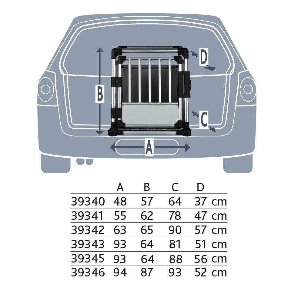 Trixie Doppel Transportbox Alubox Autobox für 2 Hunde 39345, Bild 4