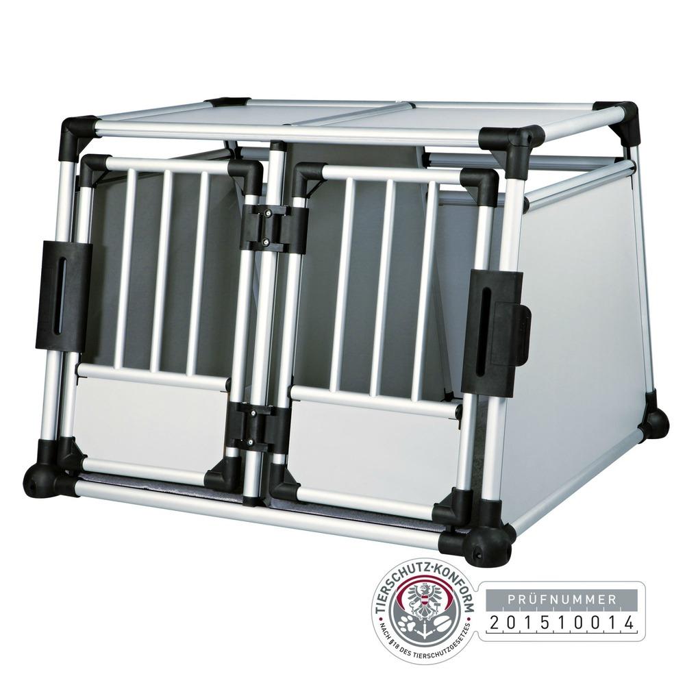 Trixie Doppel Transportbox Alubox Autobox für 2 Hunde 39345