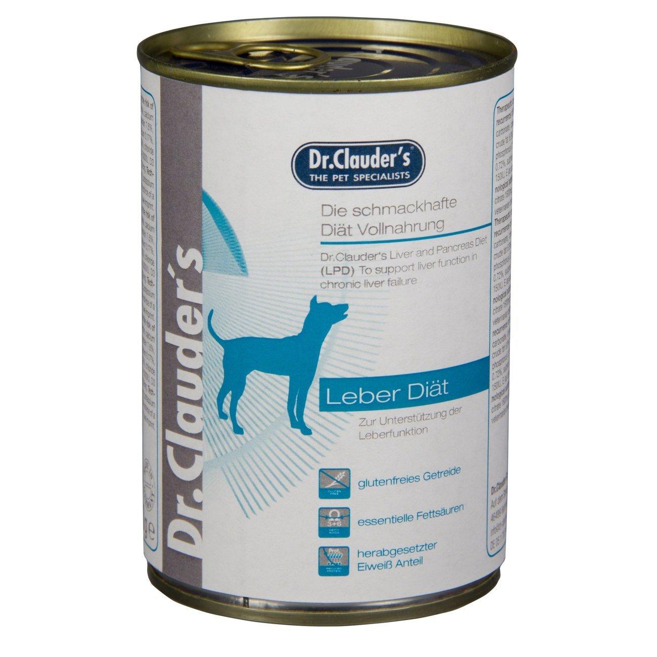 Dr. Clauders Diät Hundefutter LPD Leberdiät, 6x400g
