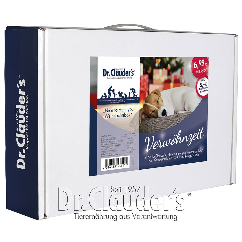 Dr. Clauders Nice to meet you Geschenkbox Hund
