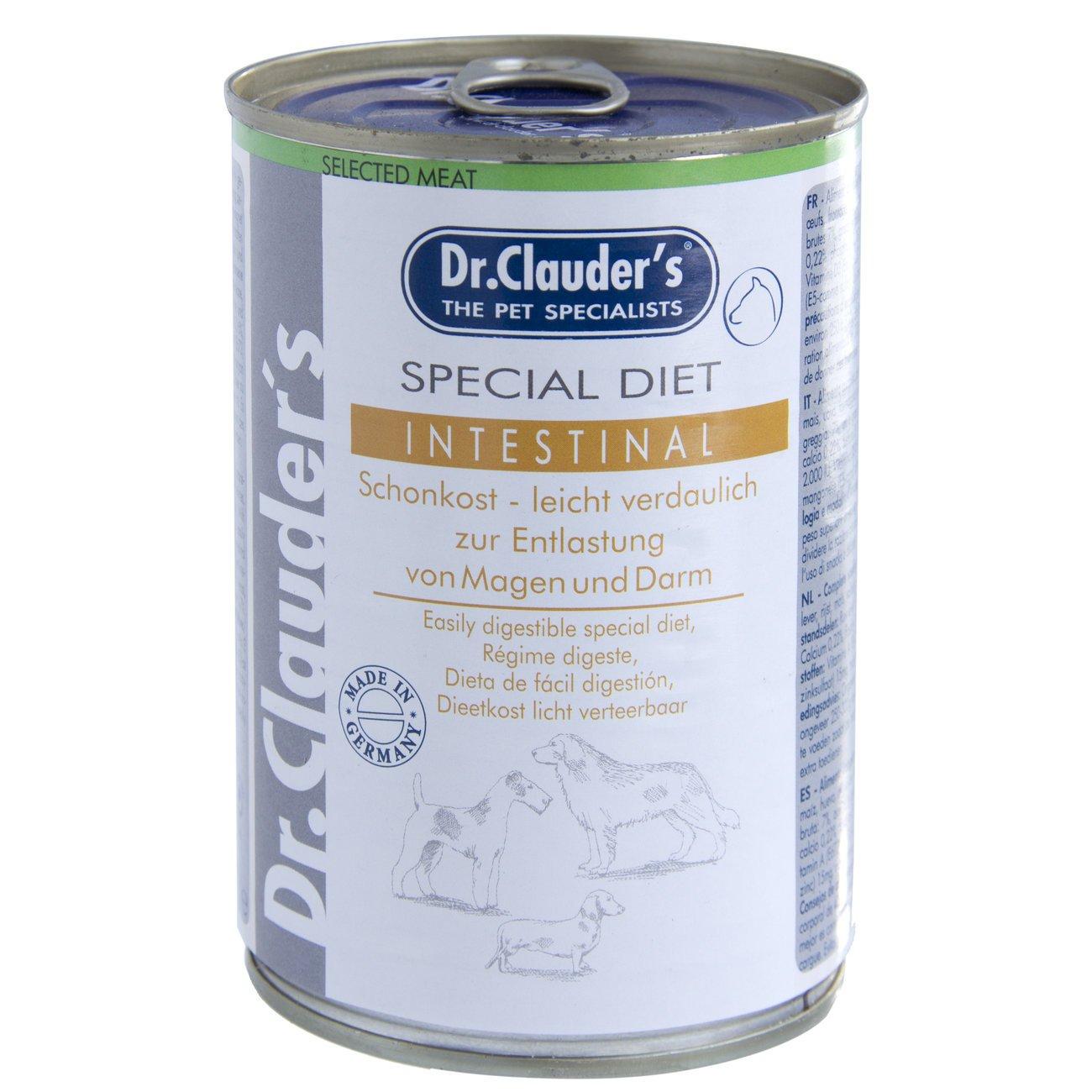 Dr. Clauders Special Diet Diät Schonkost Hundefutter, Intestinal 6x400g