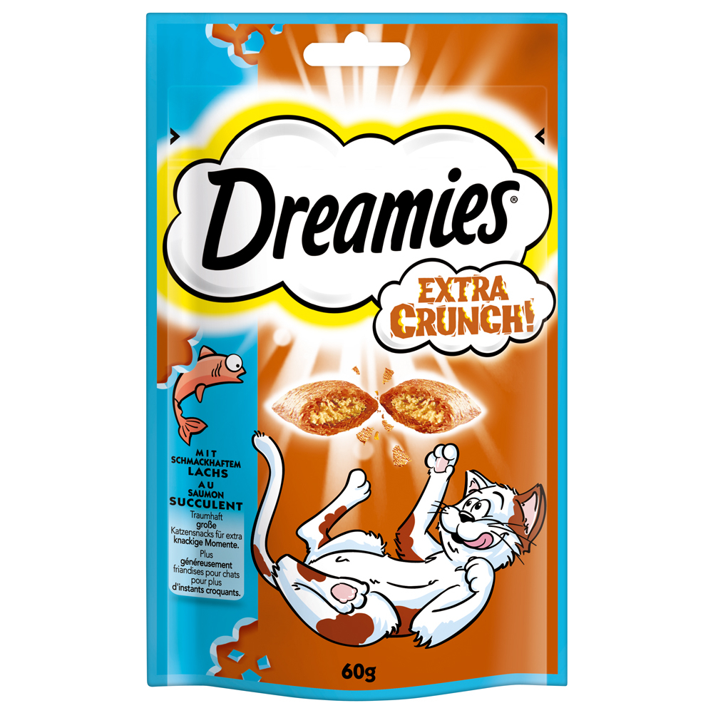 Mars Dreamies - Snack, Extra Crunch, Snack Mix - für Katzen, Extra Crunch - Lachs 60g