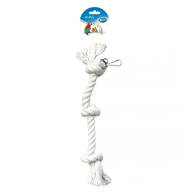 EBI Papagei Seil mit Knoten, Länge: 38 cm