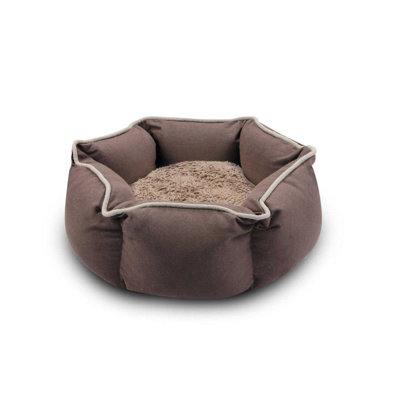 Wolters Eco Well Hundebett und Katzenbett, Gr. M: 40 x 40 cm, braun/beige