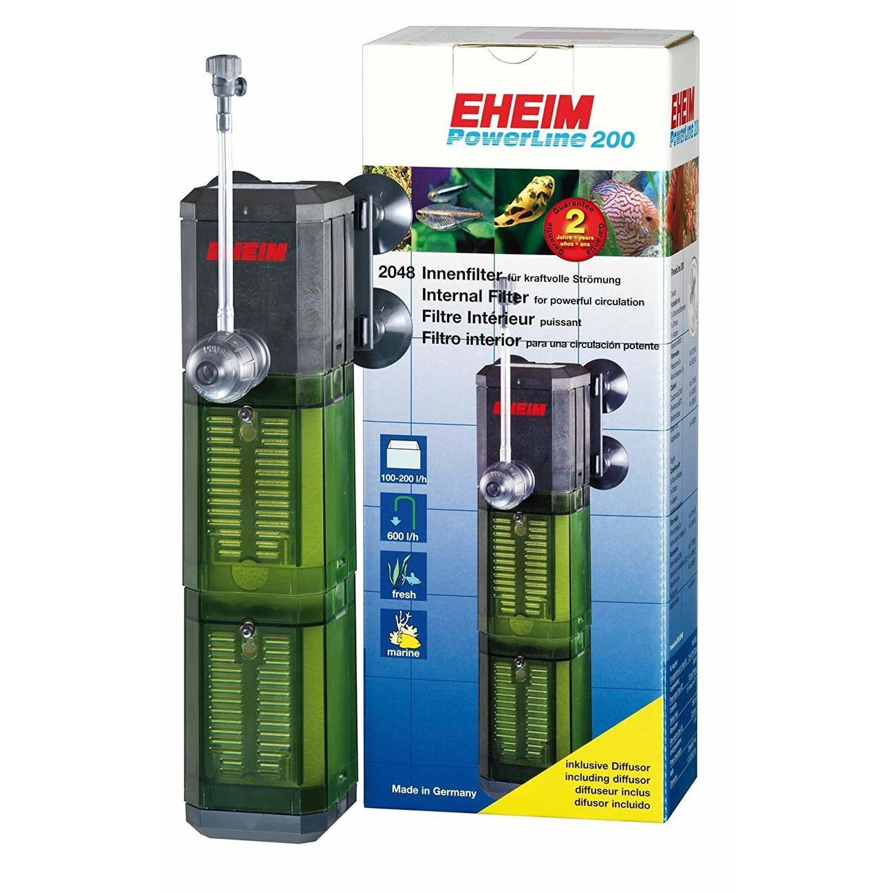 EHEIM PowerLine Aquarium Innenfilter, 200, für Aquarien von 100-200l