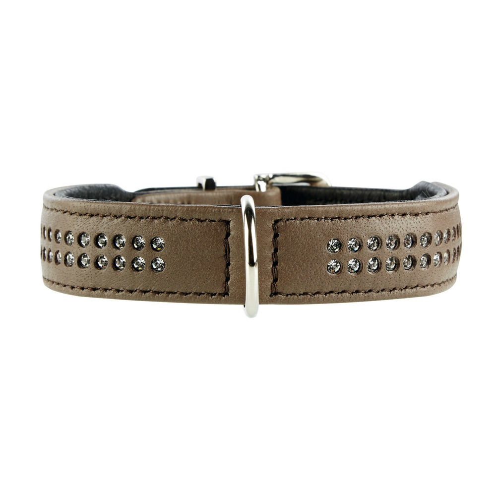 Hunter Elchlederhalsband mit Strass Diamond Petit für kleine Hunde 60154, Bild 2