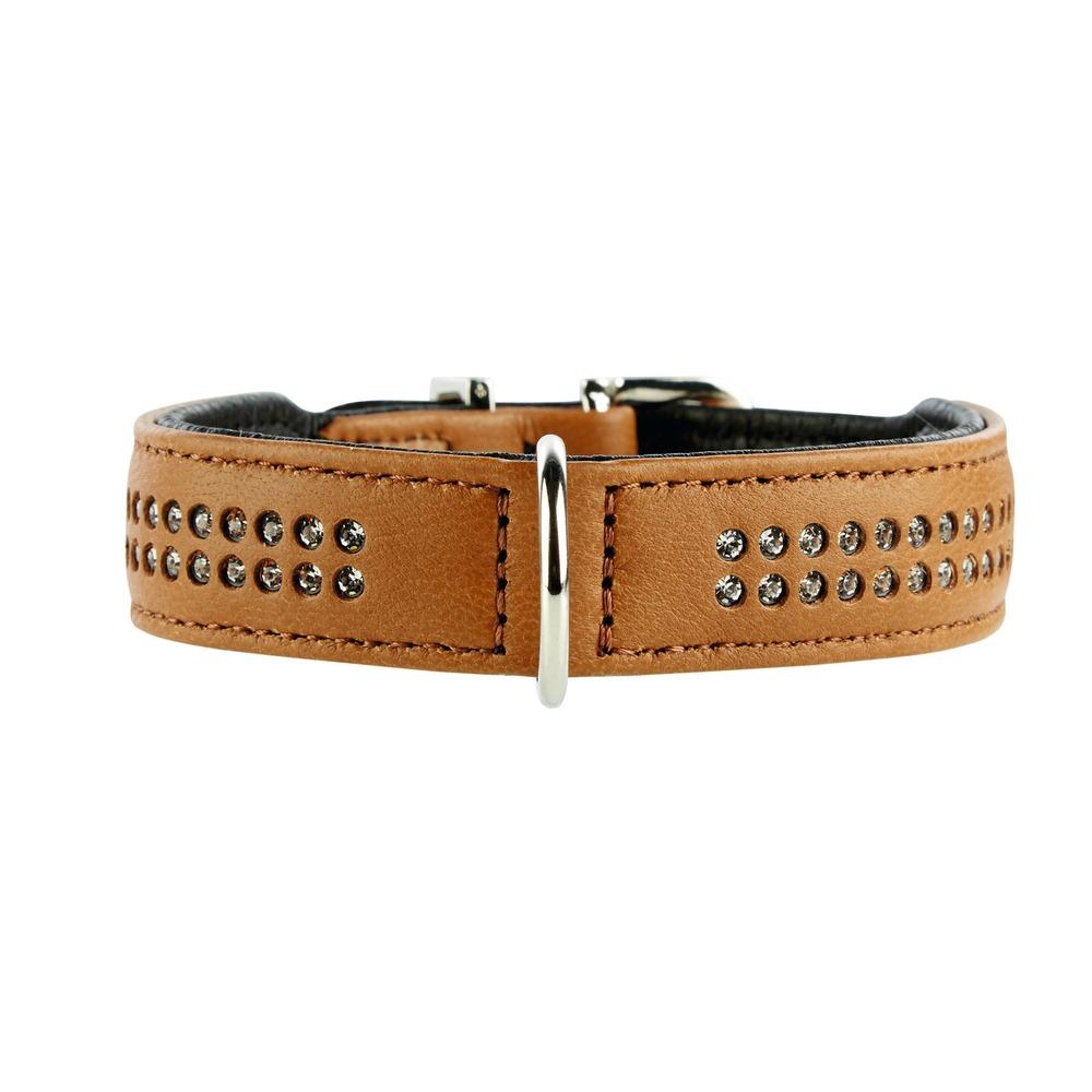 Hunter Elchlederhalsband mit Strass Diamond Petit für kleine Hunde 60154, Bild 4