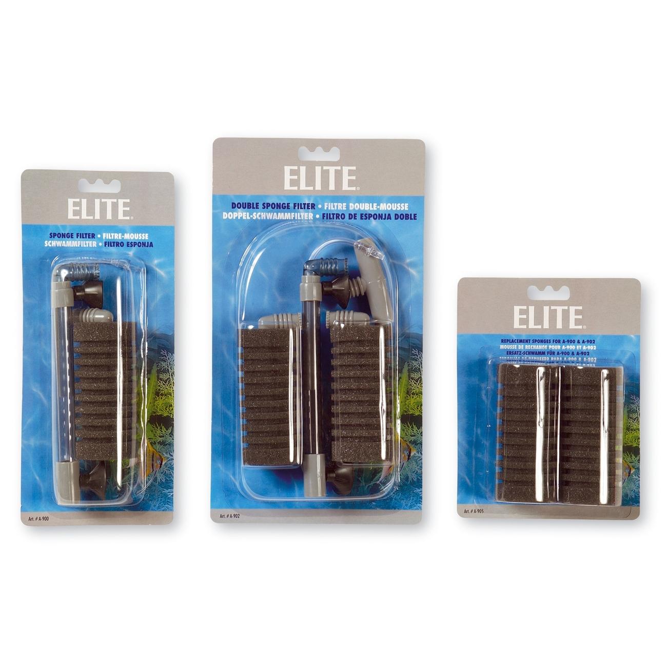 Hagen Elite Schwammfilter, Doppel-Schwammfilter auf Karte - 22 x 4,7 x 12,5 cm