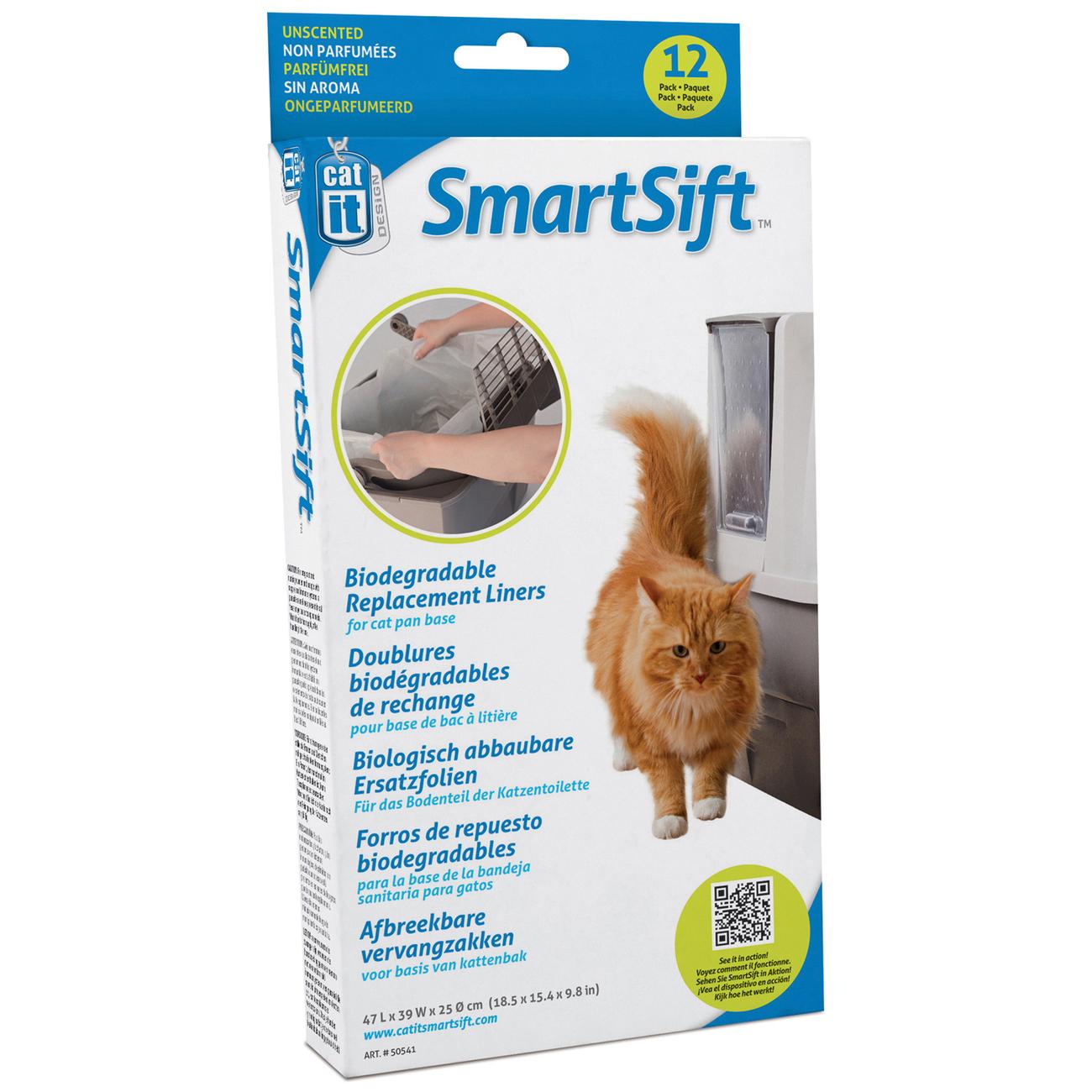 Ersatzbeutel für Catit Smart Sift selbstreinigende Katzentoilette, für Bodenteil, 12 Stück