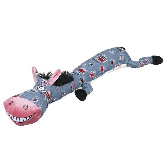 Trixie Esel aus Stoff, Hundespielzeug, Stoff/Plüsch, 55 cm