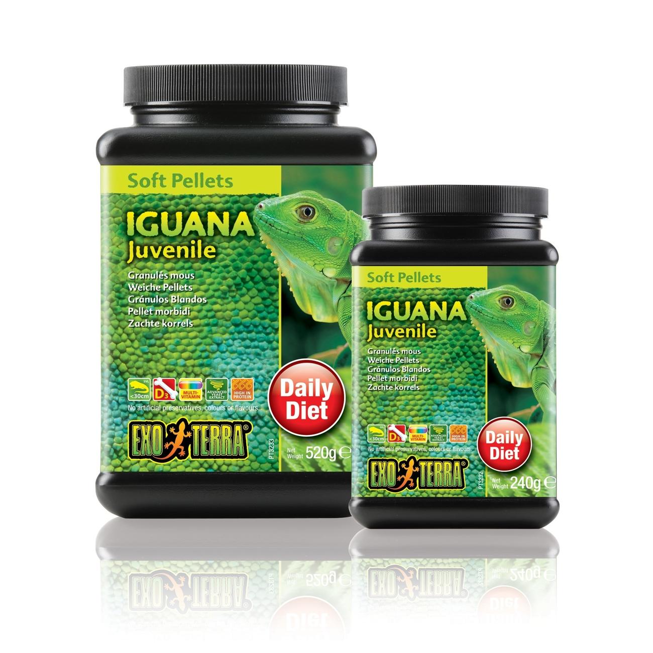 Hagen Exo Terra Futter - Soft Pellets für Leguane, Junior 520 g