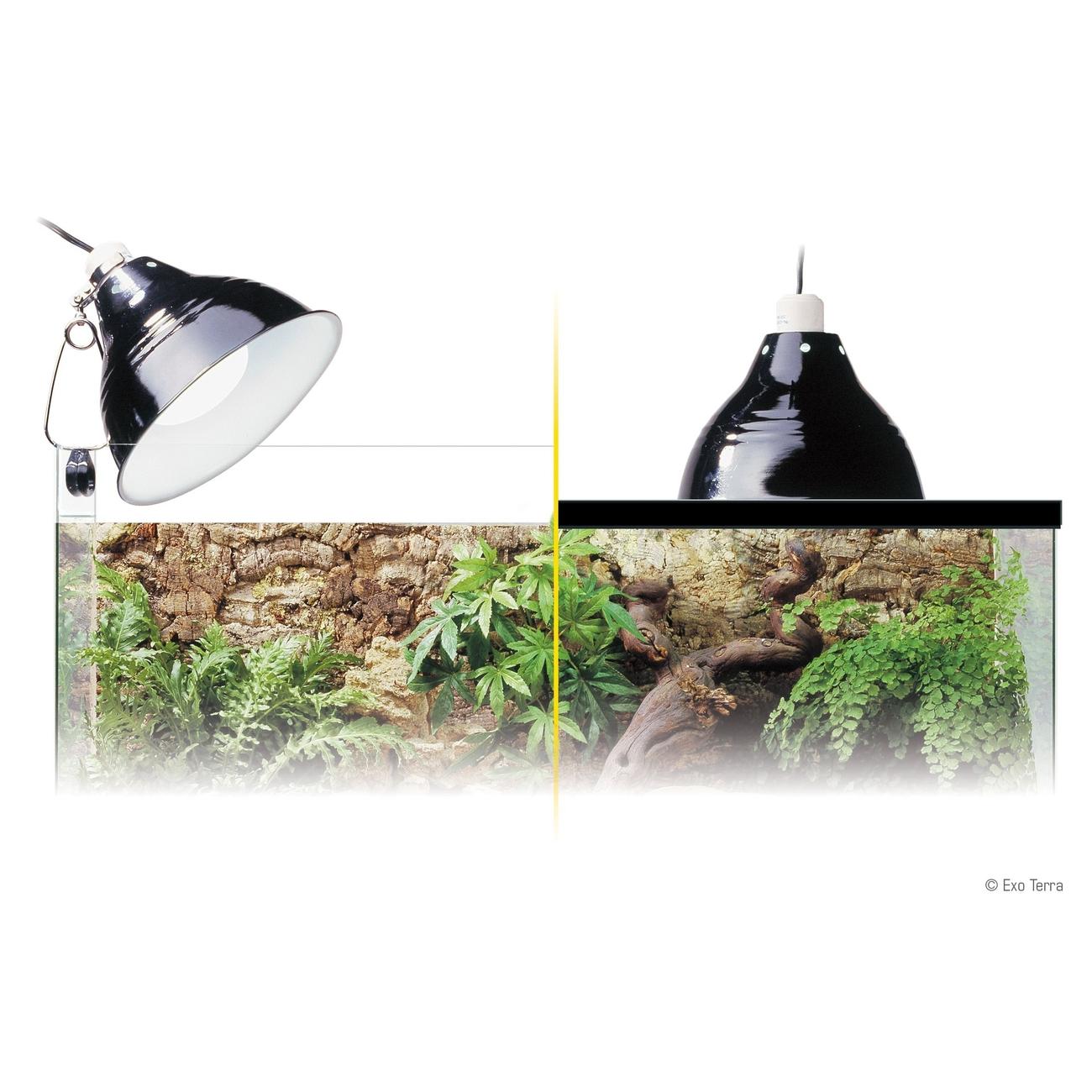 Exo Terra - Porzellan-Klemmlampe mit Leuchtreflektor, Bild 4