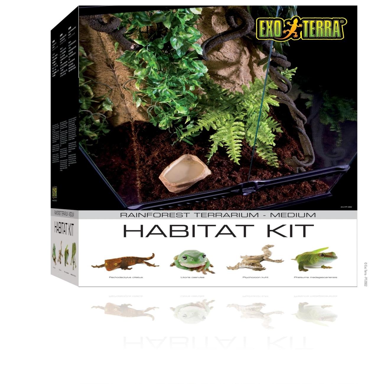 Hagen Exo Terra - Rainforest Habitat Kit, Gr. M - 45 x 60 x 45 cm