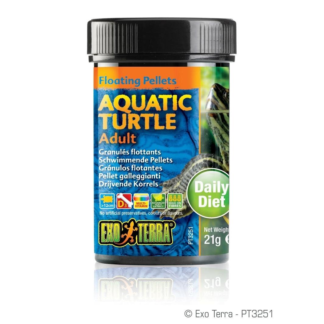 Exo Terra -  Aquatic Turtle Adult, schwimmende Futter-Pellets