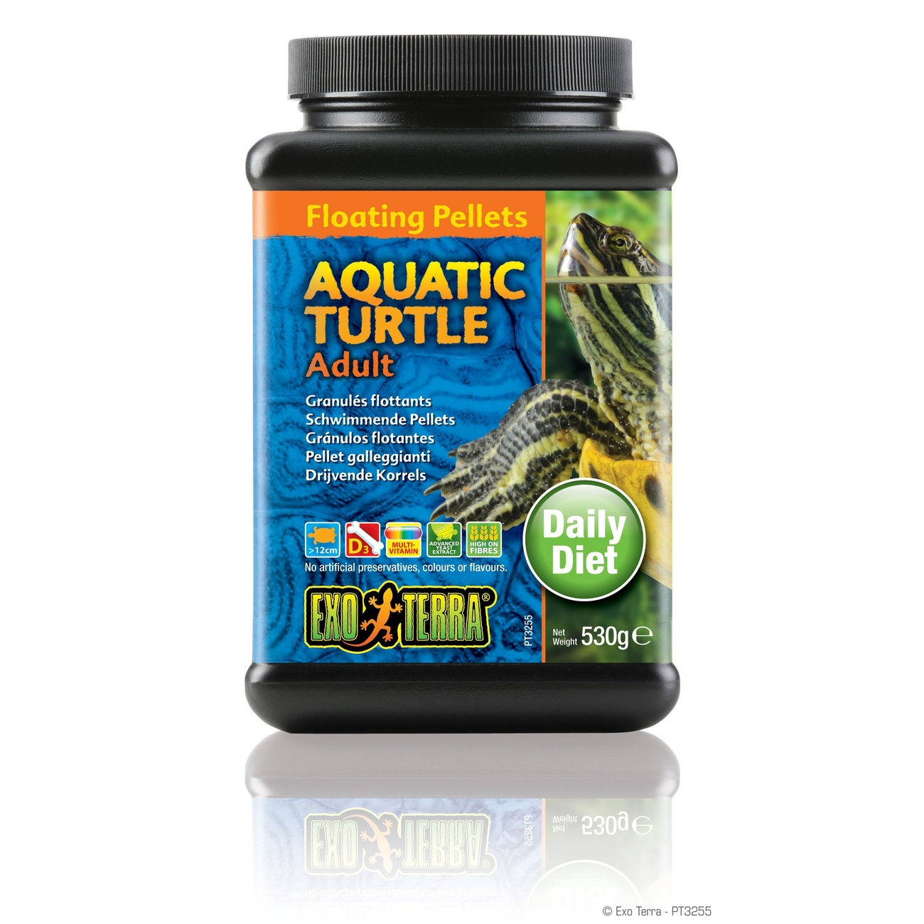 Exo Terra -  Aquatic Turtle Adult, schwimmende Futter-Pellets, Bild 4