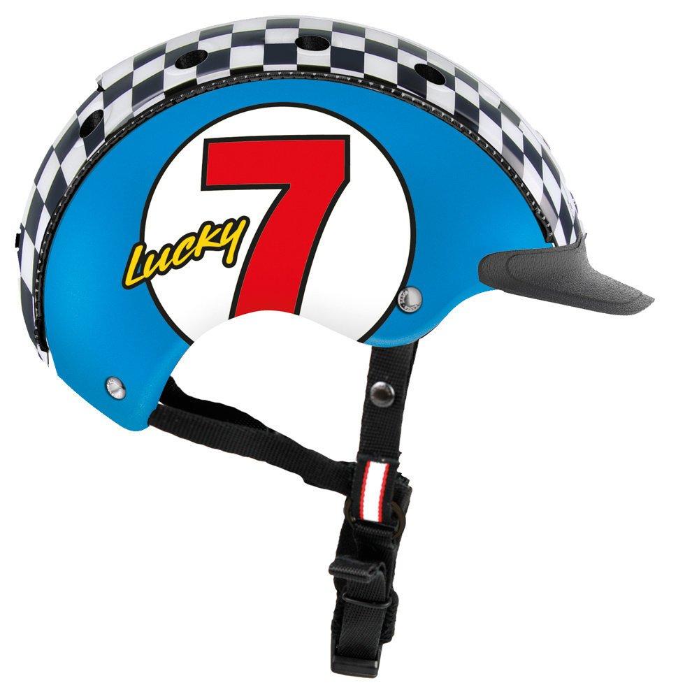 CASCO Fahrradhelm Mini 2 für Kinder, XS 46-52 cm, Lucky 7 blau