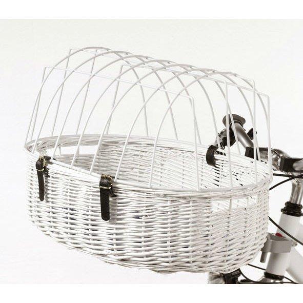 Aumüller Fahrradkorb für Hunde weiß, Maxi - 70 x 46 x 18/40 cm - mit Montagesystem