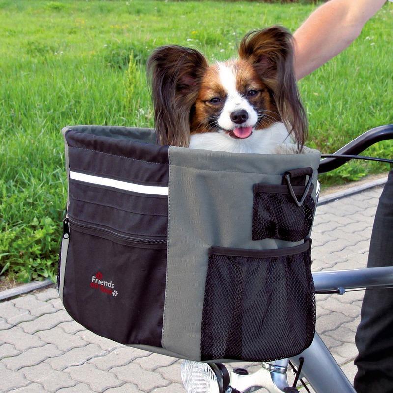 Trixie Biker Box, Fahrradtasche für kleine Hunde, 38 × 27 × 28 cm