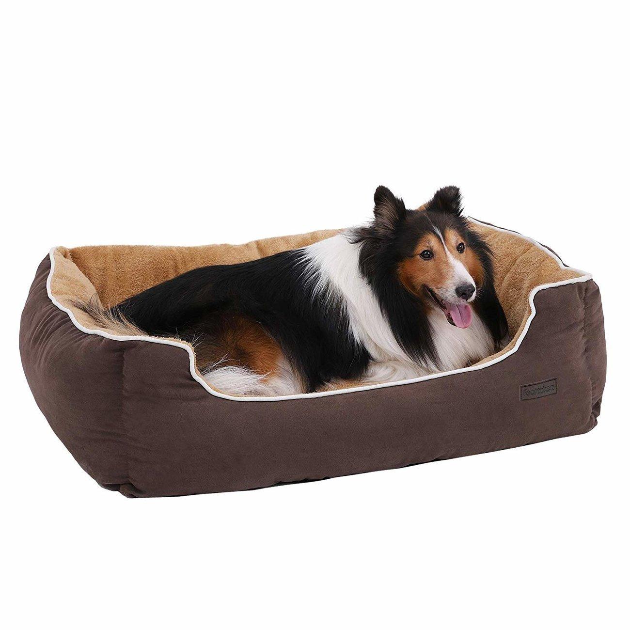 FEANDREA by SONGMICS Hundebett mit Liegefläche aus Plüsch, Bild 13