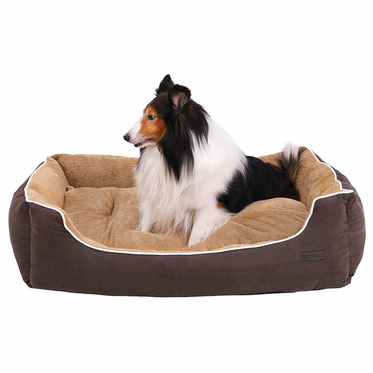 FEANDREA by SONGMICS Hundebett mit Liegefläche aus Plüsch, Bild 14