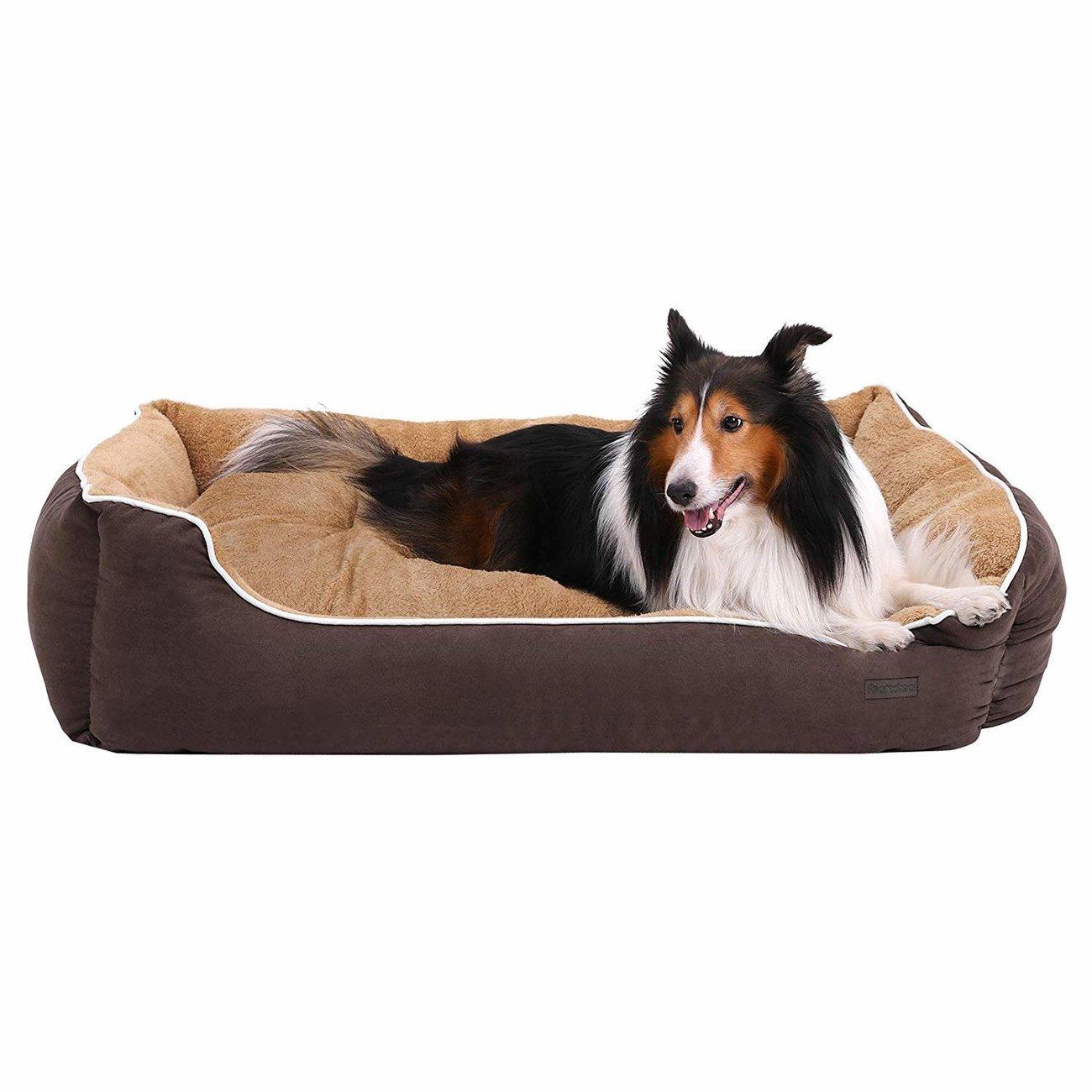 FEANDREA by SONGMICS Hundebett mit Liegefläche aus Plüsch, Bild 15
