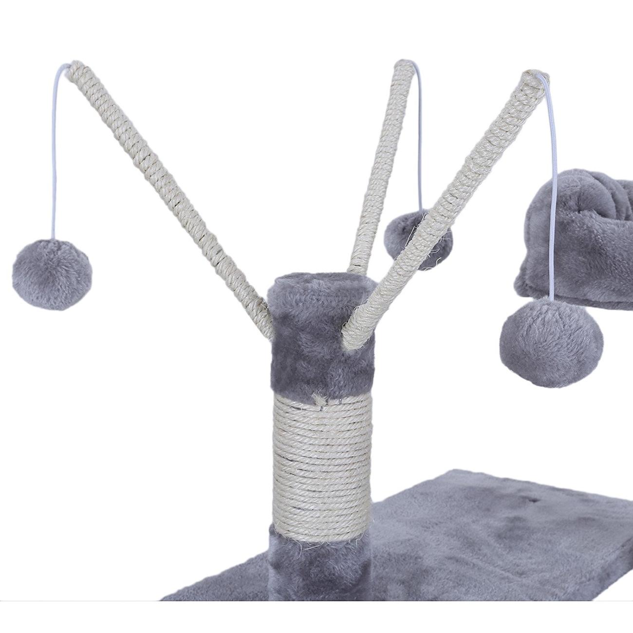 FEANDREA by SONGMICS Katzenkratzbaum mit Hängematte, Höhle, Spielzeug, Bild 17