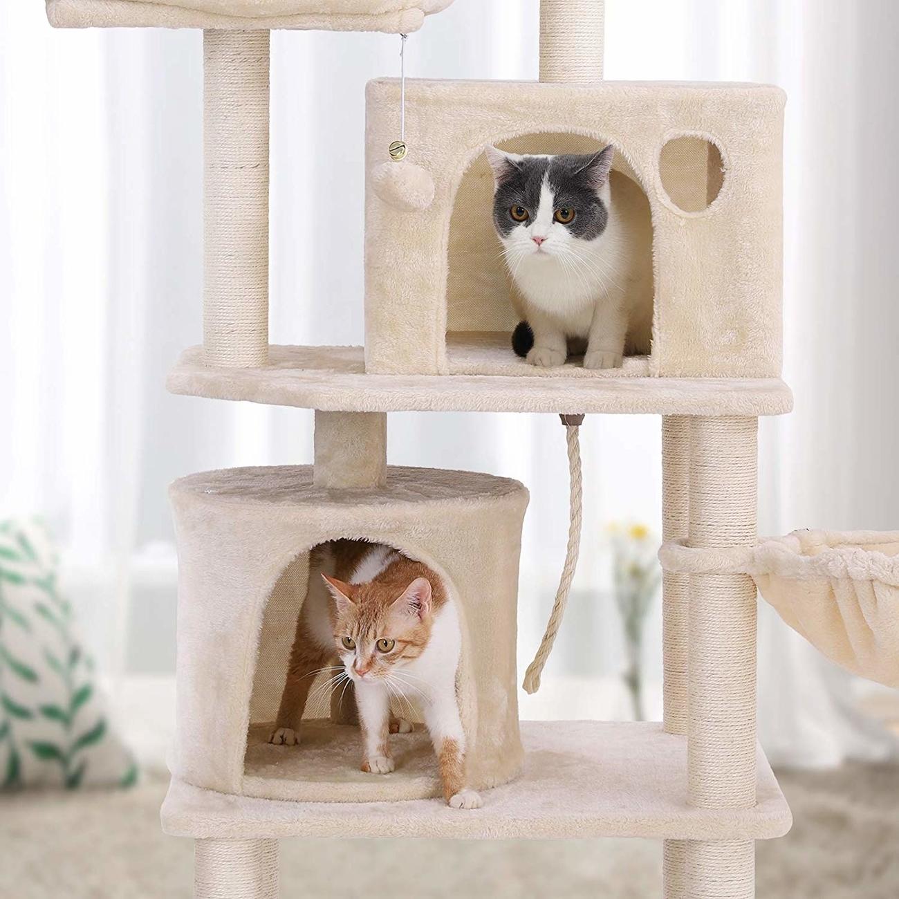 FEANDREA Katzen Kratzbaum mit 2 Höhlen, Bild 12