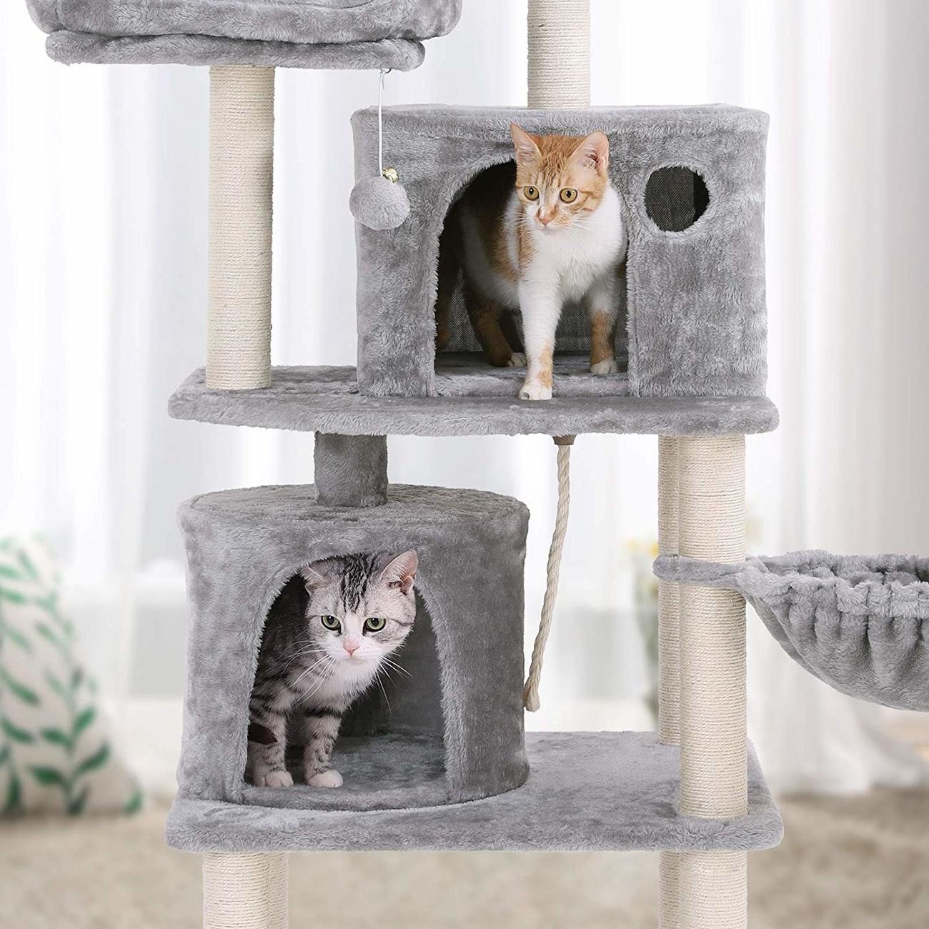 FEANDREA Katzen Kratzbaum mit 2 Höhlen, Bild 25