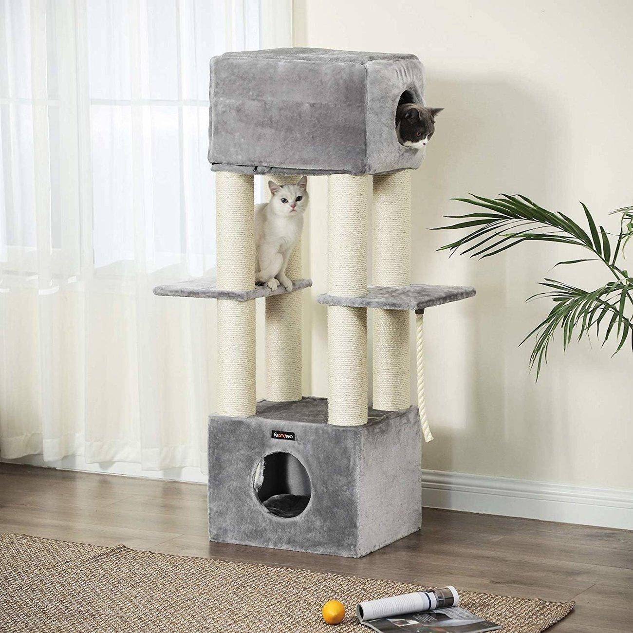 FEANDREA Katzen Kratzbaum mit Aussichtsplattform, Bild 3