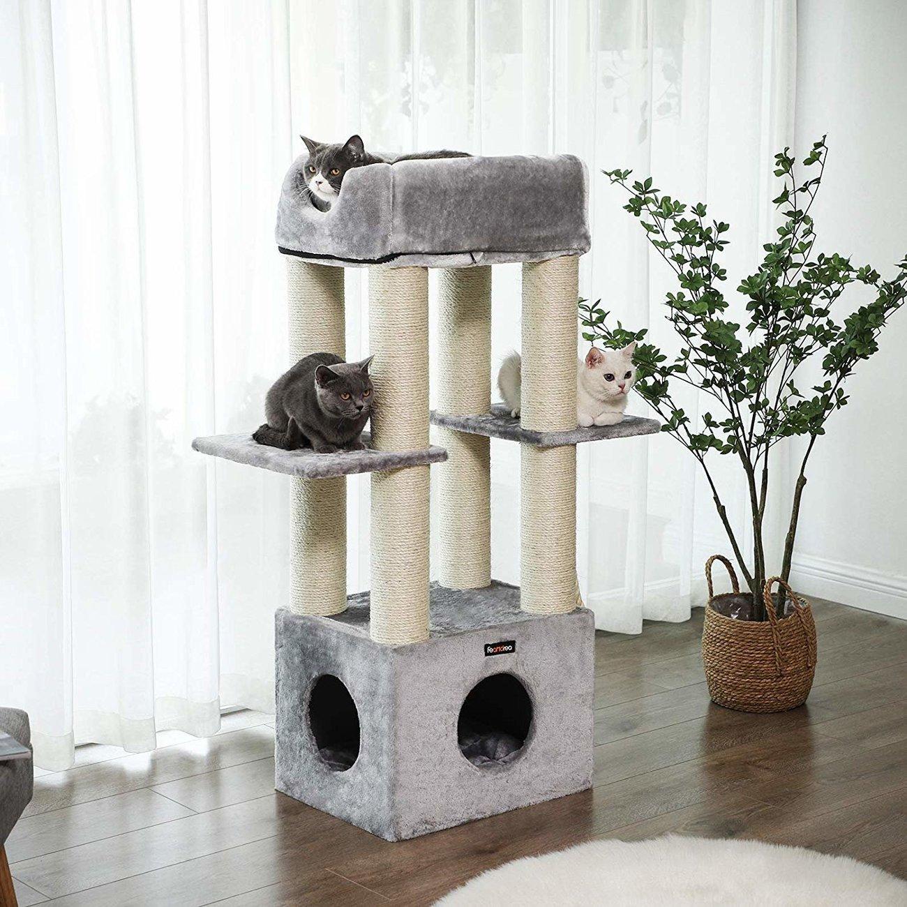 FEANDREA Katzen Kratzbaum mit Aussichtsplattform, Bild 6