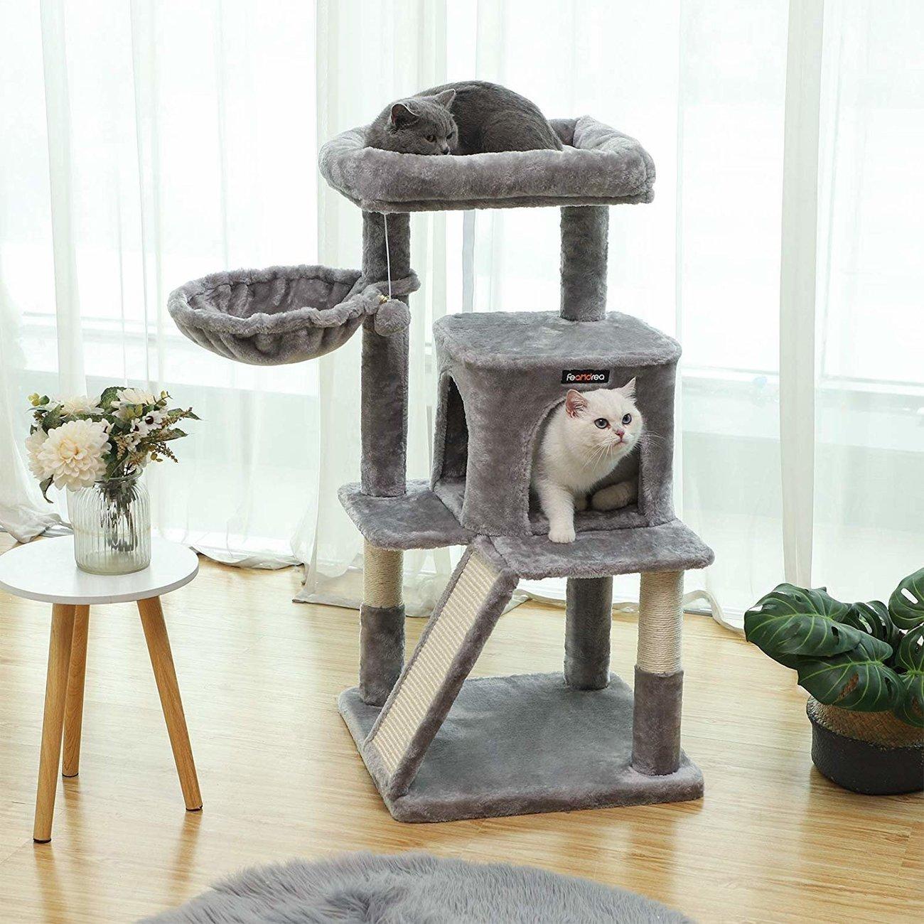 FEANDREA Katzenbaum, Kletterturm für Katzen mittel Preview Image