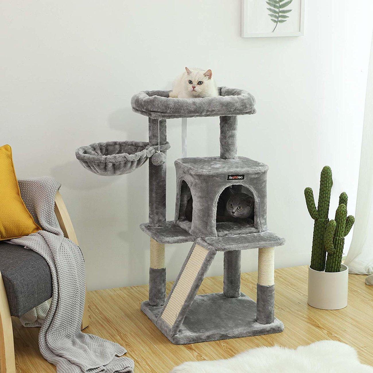 FEANDREA Katzenbaum, Kletterturm für Katzen mittel, Bild 3