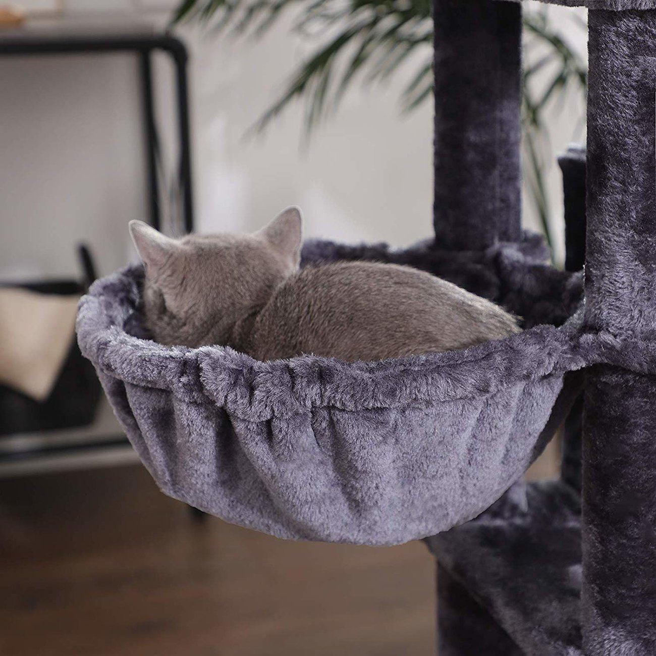 FEANDREA Kratzbaum groß mit 3 Katzenhöhlen, Bild 10