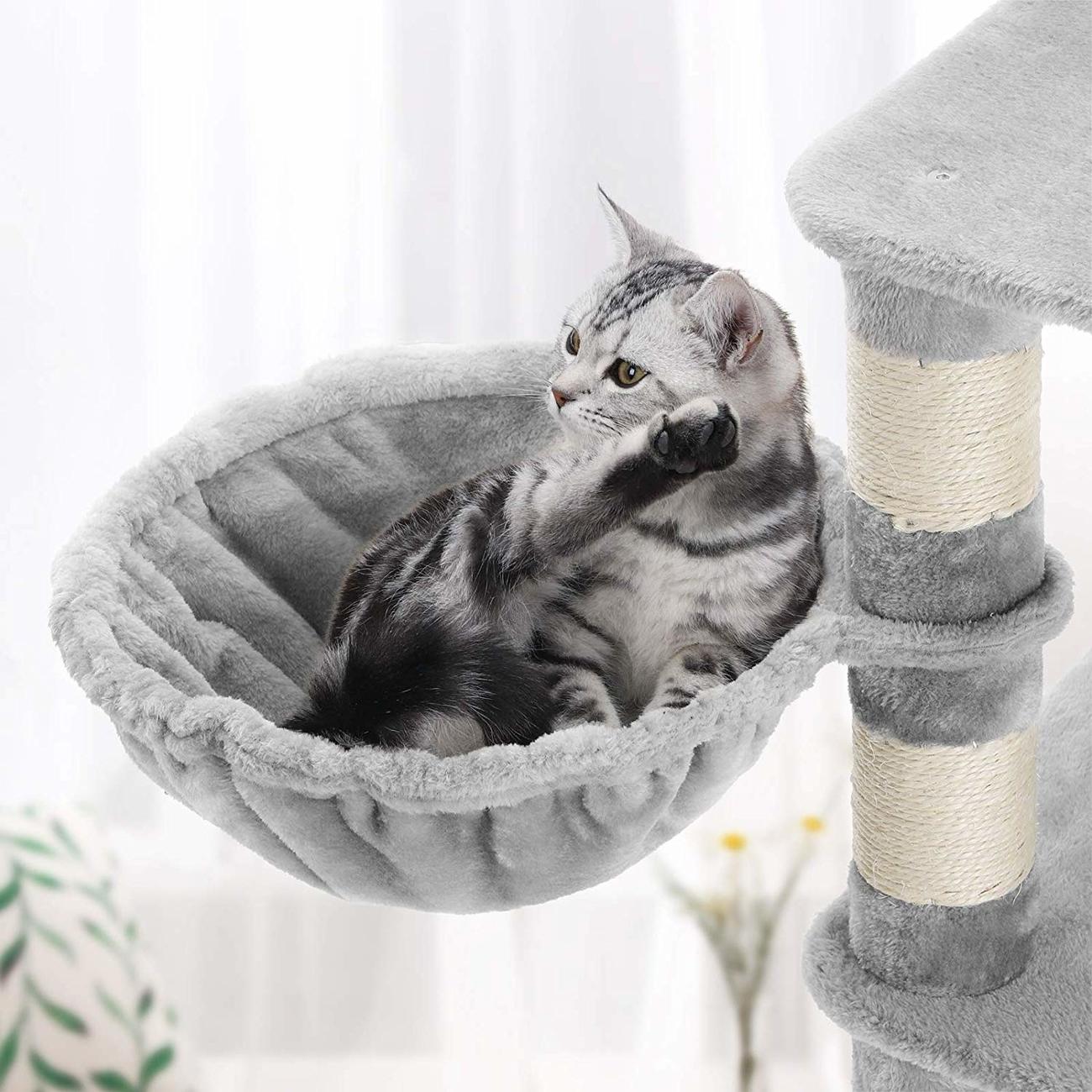 FEANDREA stabiler Kratzbaum mit Katzennapf, Bild 11