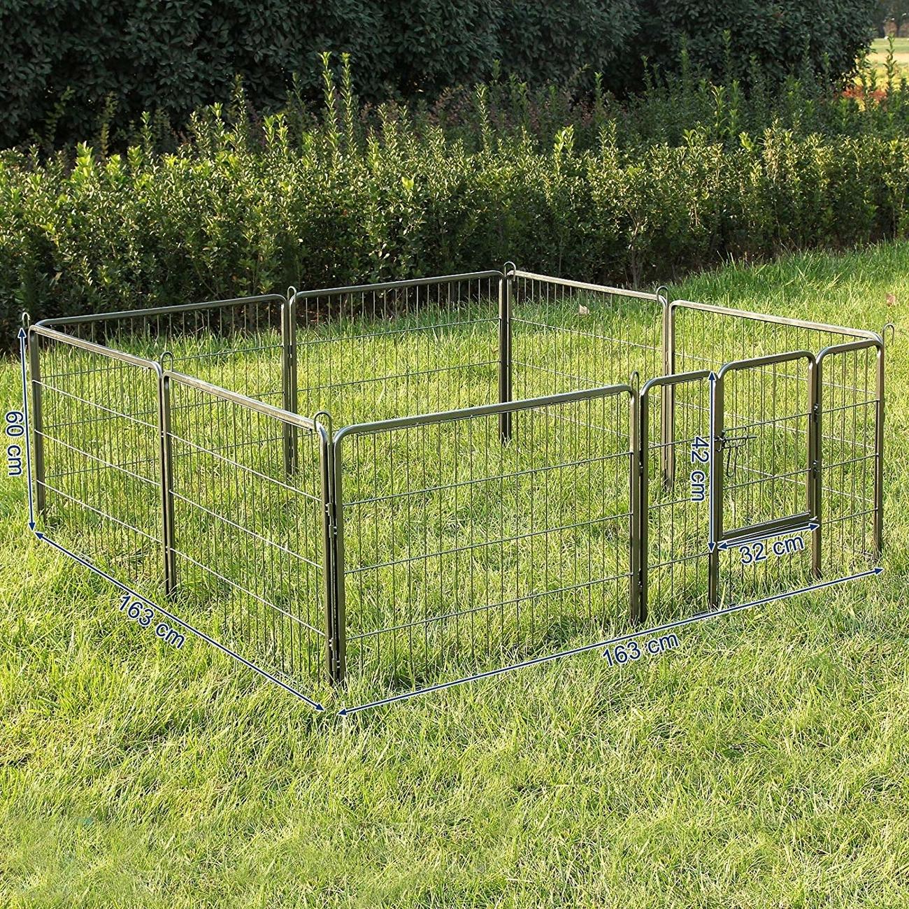 FEANDREA Welpenfreigehege Hundegehege Freilaufgehege 80x60cm, Bild 2