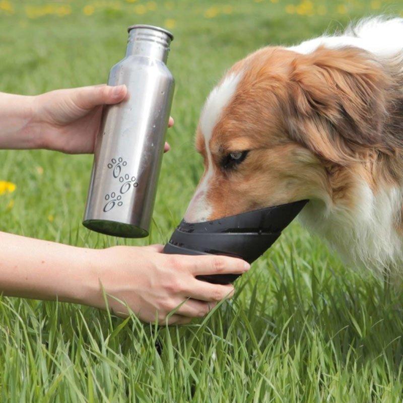 TRIXIE Flasche mit Trinknapf für Hunde unterwegs 24605, Bild 2